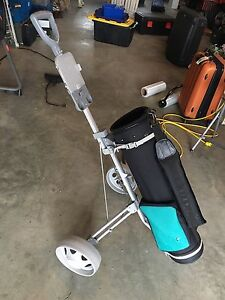 Spalding golf bag and cart for sale!!