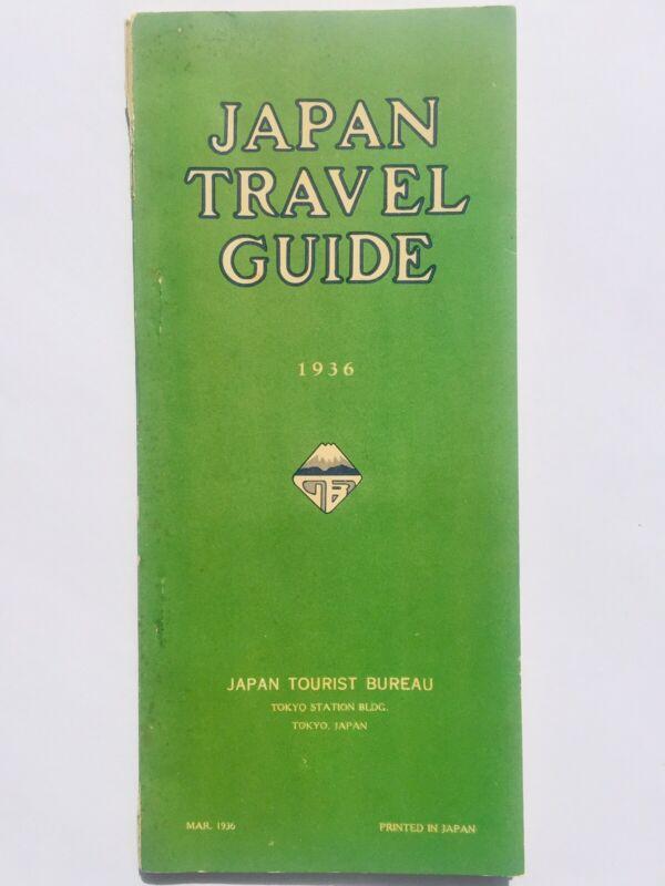 JAPAN TRAVEL GUIDE 1936 Details Specifics Rates JAPAN TOURIST BUREAU Vintage