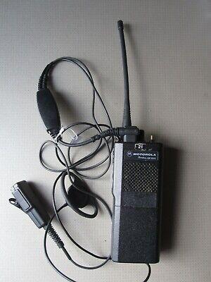 Motorola Radius GP 300 Radio 8 channels with Earpiece, and Mic (r4591)