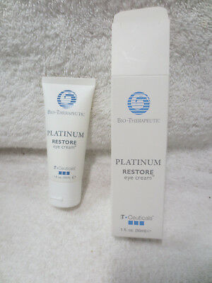 Platinum Restore Eye Cream 1Oz B T Ceuticals Bio Therapeutic New In Box