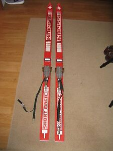Vintage Kneissl skis short magic with spademan ski bindings