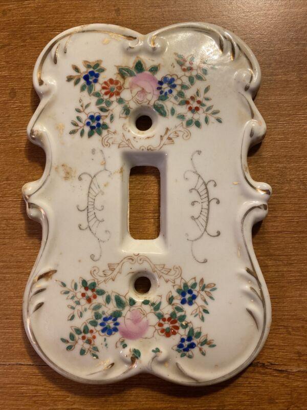 Vintage Original Porcelain Arnart Creation Japan #7310 Switch Plate Cover