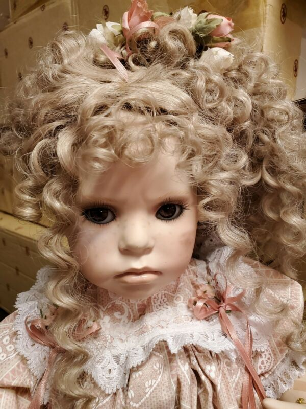 """Absolutely Adorable Porcelain 23""""Artist Doll  Handcrafted by Mary Ellen Dolls"""
