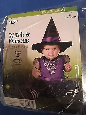 Halloween Costume Girls Toddlers Witch And Famous Size 2T](Toddler Girl Witch Halloween Costumes)