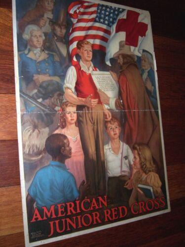 1943 American Junior Red Cross Poster Walter Beach Humphrey Patriotic Theme