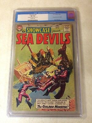 SHOWCASE #27 CGC 3.5 KEY ISSUE, 1ST SEA DEVILS, HEATH, 1960, GOLDEN MONSTER