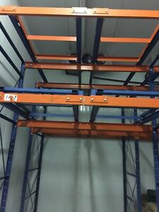 12' high Push Back Racking for commercial freezers or coolers