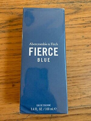 NEW Authentic FIERCE BLUE Abercrombie & Fitch 3.4 oz/ 100 mL Men Cologne SPRAY