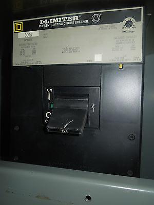Square D I-limiter Current Limiting Circuit Breaker Lip36600 600a 3p 600vac Used