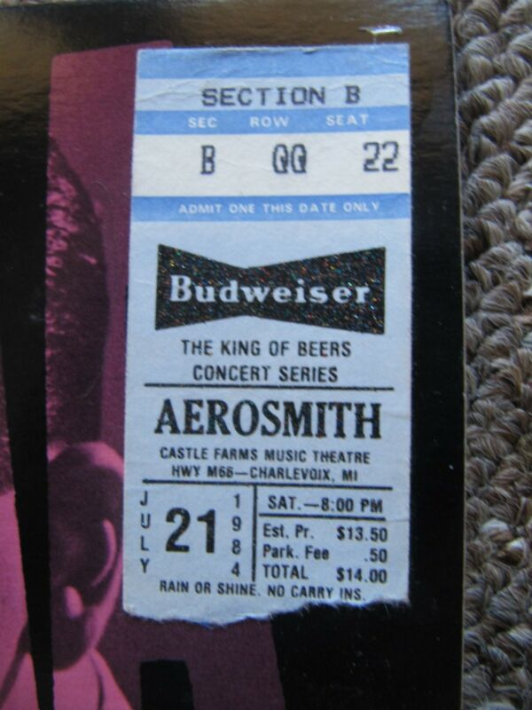 Aerosmith Done With Mirrors LP + Photo WITH 1984 Tour TICKET & 1975 Sheet Music