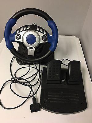 Intec Gaming Racing Wheel   Pedals Playstation 2  Playstation  Xbox  Gamecube