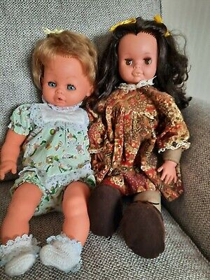 NICE PAIR OF VINTAGE DOLLS BY VICMA AND PEDIGREE VICTORIA ROSE   X 2