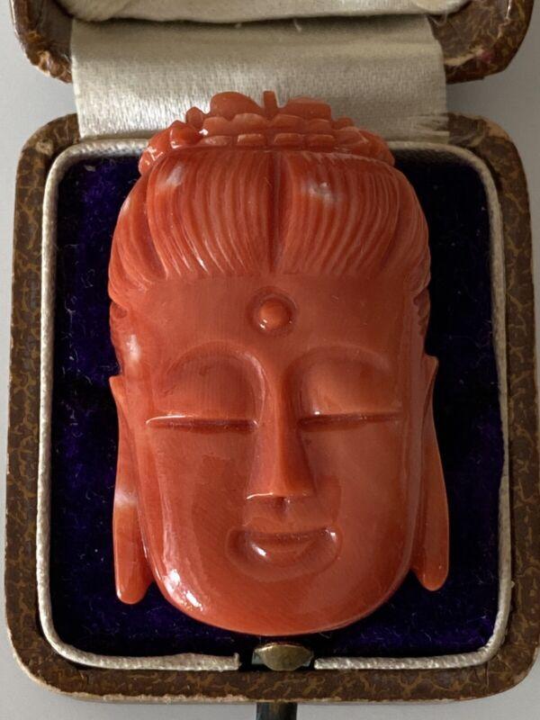10.76 gram natural coral Buddha