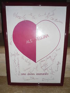 Un-Quadretto-Cornice-Stampato-REGGINA-CALCIO-Con-Autografi-Uno-1-In-Regalo
