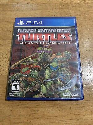 Teenage Mutant Ninja Turtles: Mutants in Manhattan PlayStation 4 PS4 NEW SEALED!