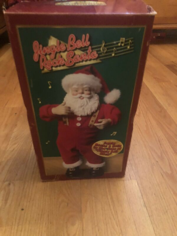 1998 Christmas Fantasy Rock Santa Collectibles Jingle Bells Edition