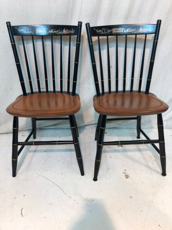 Hitchcock chair co Black/harvest Seaport Side Chairs used hitchcockdotcom