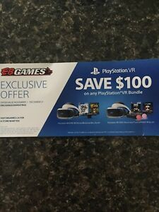 PS4 VR coupon