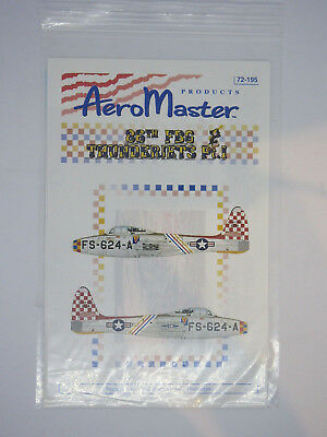 1/72 86th FBG THUNDERIETS Pt1 Decals AERO MASTER 72195