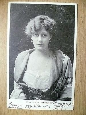 1904 Postcard- Actress MISS VIOLET VANBRUGH, No. 1+ Stamp