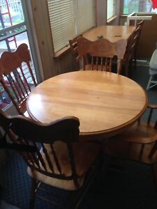 Press Back Chairs and Table