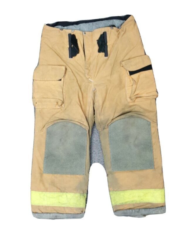 42x30 42L Janesville Lion Brown Firefighter Turnout Pants with Yellow Tape P040