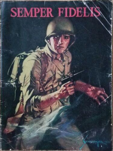Vintage 1942 Semper Fidelis Magazine USMC Marine Corps Schlaikjer Art WW2 RARE