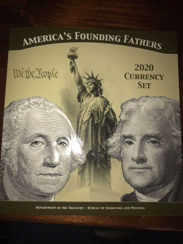 America's Founding Fathers 2020 Currency Set U.S. Mint/B.E.P.
