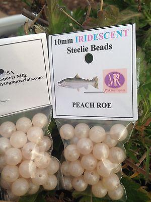 Steelie Beads 10mm Peach Roe Mad River UV Clear Series