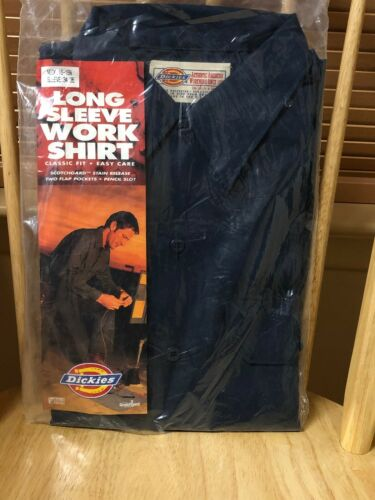 DICKIES 575 MENS WORK SHIRT LONG SLEEVE BUTTON UP SHIRTS WOR