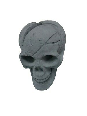 Black Skull Ceramic Fireplace Logs For Fireplaces,Halloween Decor,Fire Pits,BBQ ()