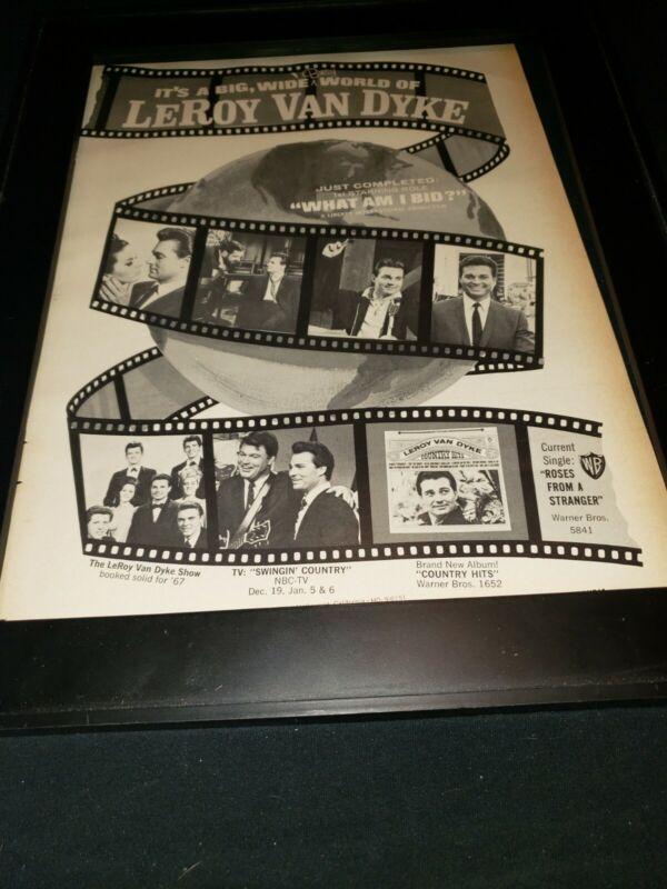Leroy Van Dyke What Am I Bid Rare Original Promo Poster Ad Framed!