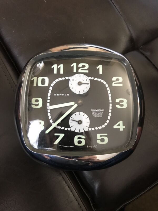 Wehrle Commodore Repetition Mechanical Clock Made In Germany Works Excellent