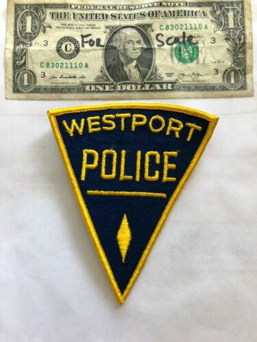 Rarer Westport Connecticut Police Patch Un-sewn great shape
