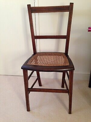 Pretty Antique Edwardian Inlaid Mahogany Bedroom Salon Occasional Chair