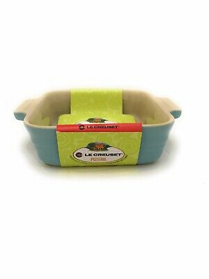 "Le Creuset Square Baking Dish 5"" Powder Light Blue - Freezer to Oven_New"