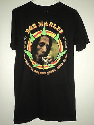 Zion Bob Marley When You Smoke Herb Black Graphic T-Shirt Size Medium Mens NEW! Bob Marley Smoke Herb