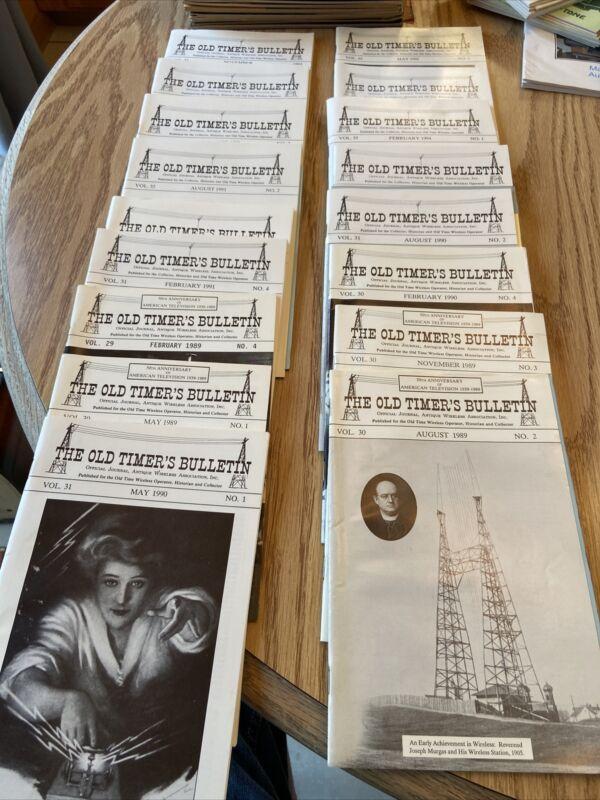 17 Vintage The Old Timer's Bulletin Journal 1989-1994 Mixed Tube Radio Magazine