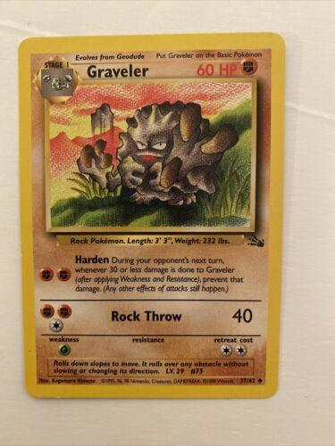 Graveler 1st Edition 1999 Pokemon 37/62 - $2.50