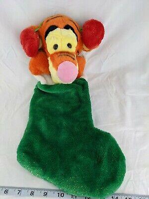 "Disney Tigger Christmas Stocking Plush 22"" Stuffed Animal Toy"