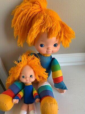 "Vintage 1983 Hallmark Rainbow Brite dolls 18"" And 10"""