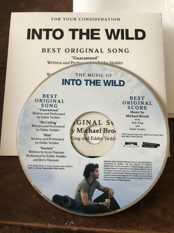 EDDIE VEDDER PROMO CD - Into the Wild (Pearl Jam PJ)  CD VERY RARE