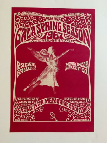 Pacific Ballet Dance Poster San Francisco 1967