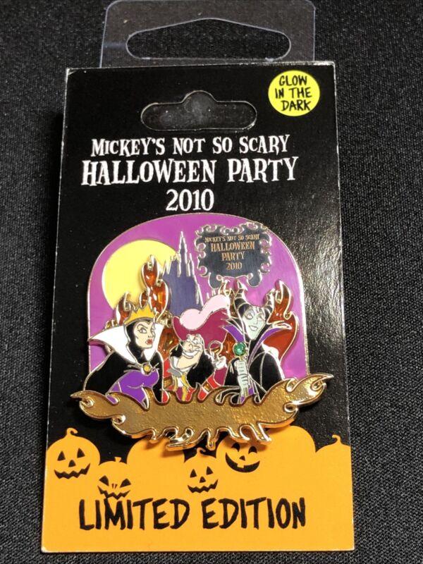 Disney Pin 3D Glow Dark Pin 2010 Mickey's Not So Scary Halloween Party Villains