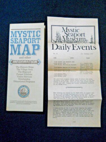 Vintage 1979 Mystic Seaport Map & Museum Daily Events / Connecticut