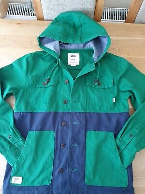 VANS COTTON HOODED JACKET MENS SIZE M GENUINE GOOD CONDITION