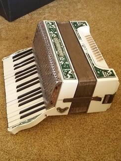 Antique piano accordion.