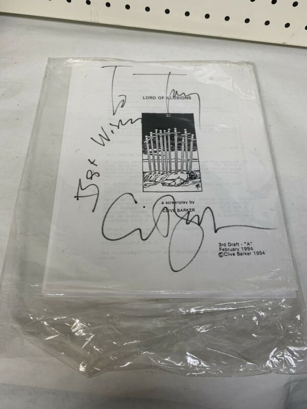 SIGNED LORD OF ILLUSIONS / Clive Barker 1994 February 3rd Draft Screenplay