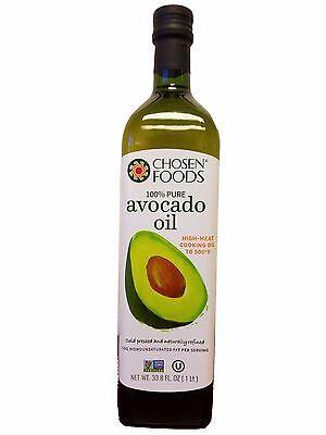 Chosen Foods 100% Pure Avocado Oil  Naturally Refind 33.8 FL OZ