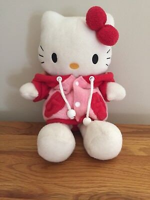 Hello Kitty Soft Toy In Winter Coat 11 Inches Tall